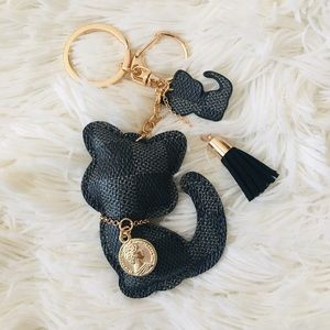 Accessories - 🐱Black Leather Cat Key Chain 🐱